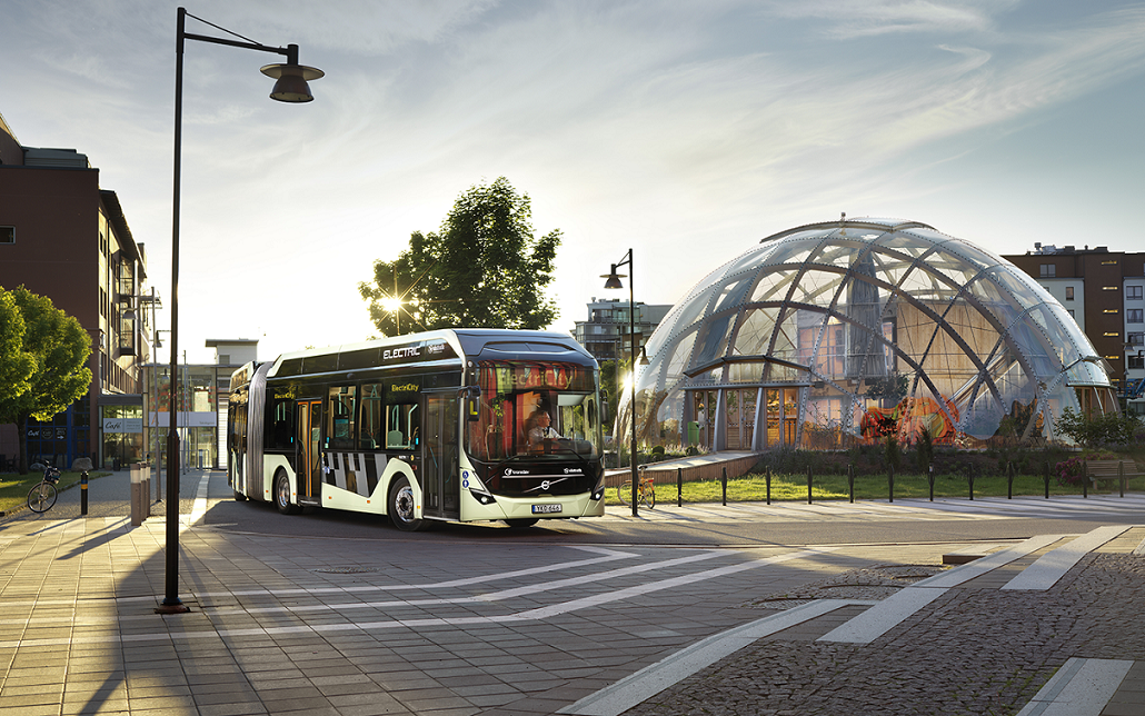 145 electric buses are in operation on a total of 34 routes in and around the City of Gothenburg. ©ElectriCity